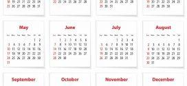 Английский календарь: дни недели и месяцы по-английски