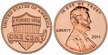 Современная сонета 1 цент в США
