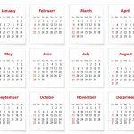 английский календарь