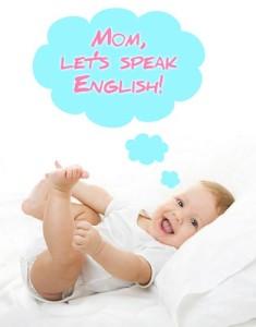 Маленький ребенок говорит по-английски