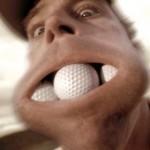 Мячи для гольфа во рту