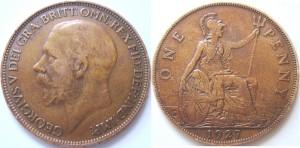 британский пенни 1927_george_5