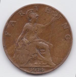фартинг 1914