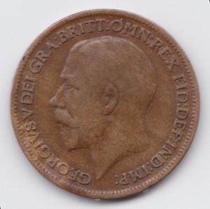 фартинг 1914г бронз.сплав 20мм диам