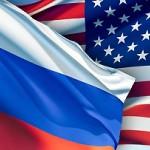 Флаги России и Америки вместе
