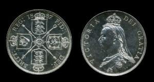 флорин 1887 г серебро