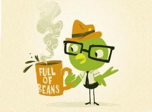 Идиома full of beans