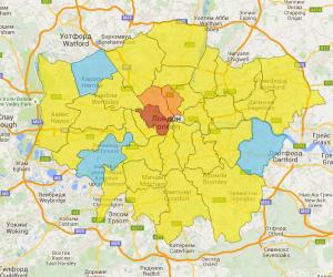 криминальная карта Лондона