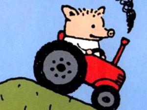 Поросёнок Пётр на тракторе