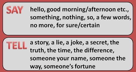 устойчивые выражения с say и tell