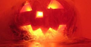Очень страшная тыква на Хеллоуин