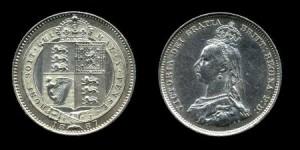 шиллинг 1887 г серебро