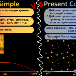 сравнение present continuous и simple