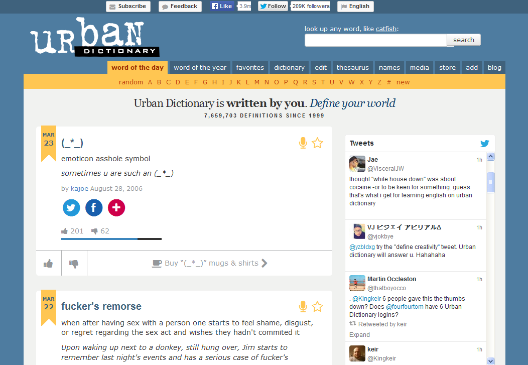 Thick urban dictionary