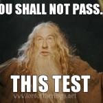 Ты не пройдешь... этот тест!
